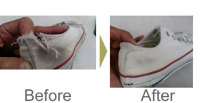 リペアスニーカー|破れ修理
